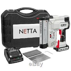 NETTA 18V Electric Cordless Heavy Duty Nail Gun Staple Gun Stapler Nailer