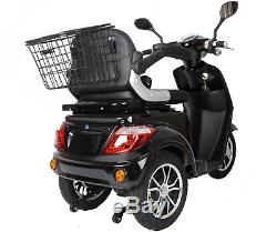 NEW 3 Wheeled Black ZT500 20AH 500W Electric Mobility Scooter LED Display + Gift