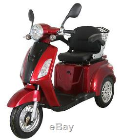 NEW 3 Wheeled RED ZT500 20AH 500W Electric Mobility Scooter LED Display