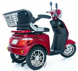 NEW 3 Wheeled RED ZT500 900W Electric Mobility Scooter LED Display FREE DELIVERY
