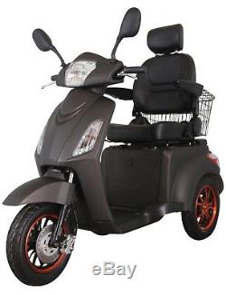 New 3 Wheeled ELECTRIC MOBILITY SCOOTER 60V100AH 800W Matt Black FREE DELIVERY
