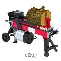 New! 5 TON HEAVY DUTY ELECTRIC LOG SPLITTER HYDRAULIC WOOD CUTTER WITH STAND UK