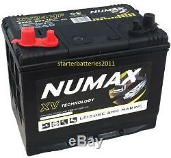 Numax XV24MF 12V 80AH Sealed Heavy Duty Leisure Marine Battery Dual / Twin Post