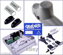 Quiko Premium Heavy-duty Electric Gate Opener Kit Dual Rams 2 Remotes 2yr Warr