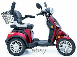 Red 4 Wheeled 60V100AH 600W Electric Mobility Scooter FREE DELIVERY Green Power