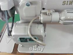 Singer 201k 201k23 Heavy Duty Electric Sewing Machine in Beige