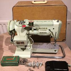 Singer 320K Cylinder Arm Semi Industrial Heavy Duty Zigzag Freehand Embroidery