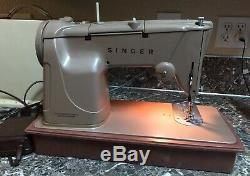 Singer 328K Sewing Machine Style-o-Matic Vintage Heavy Duty Upholstery Tested
