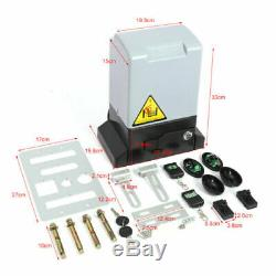 Sliding Electric Gate Opener Automatic Motor Heavy Duty Driveway Security Kit