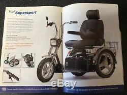 TGA Supersport Black & Chrome Edition Mobility Scooter