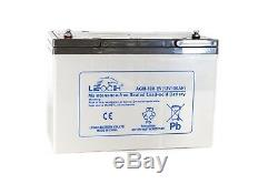 TWO x LEOCH AGM 12V 100ah Pride Colt Executive Mobility Scooter Batteries