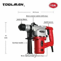 Toolman Electric Power Rotary Hammer Drill Driver 10 Amp For Heavy Duty Corded
