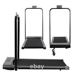 UK Folding Electric Treadmill Running Walking Fitness Machine with Remote + Handle