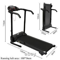 UK Incline Adjustment Treadmill Running Machine Electric Cardio Workout 110Km/h