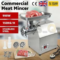 UK STOCK- Commercial Meat Mincer Butchers Grinder Quality Heavy Duty UK Plug