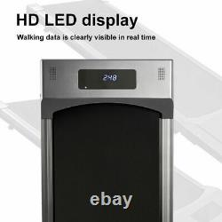 UK Treadmill Home Office Electric Walking Pad Cardio Running Machine Black&Grey