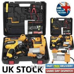 Universal Heavy Duty Car Kit 12V 3Ton Car Electric-Jack Floor Jack Emergency &