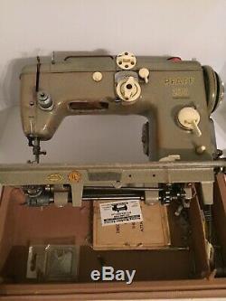 Vintage Pfaff 230 Electric Sewing Machine With Case, Heavy Duty, Leather, Denim