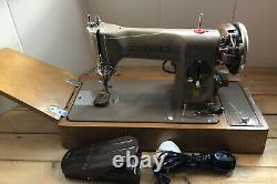 Vintage Singer 215G Heavy Duty Semi Industrial Electric Sewing Machine