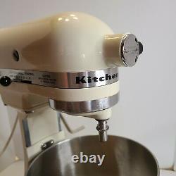 Vtg KitchenAid Hobart K5SS Heavy Duty 5qt Stand Mixer 10 Speed Almond WORKs