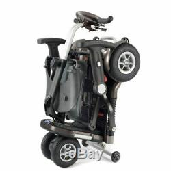 WHITE TGA Minimo Folding Boot Mobility Scooter With Lithium Battery + ARM RESTS
