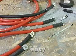 Winch Wiring Kit Heavy Duty Cable 3.8mtr long 50mm electric cable warn 8274 4x4