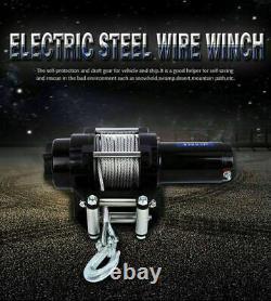 Wireless Heavy Duty 12v 4000lbs Boat Trailer Winch Car Caravan Electric Atv
