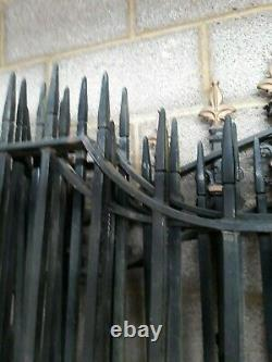 Wrought Iron Entrance Gates electric/manual well made Heavy Duty No 2 set